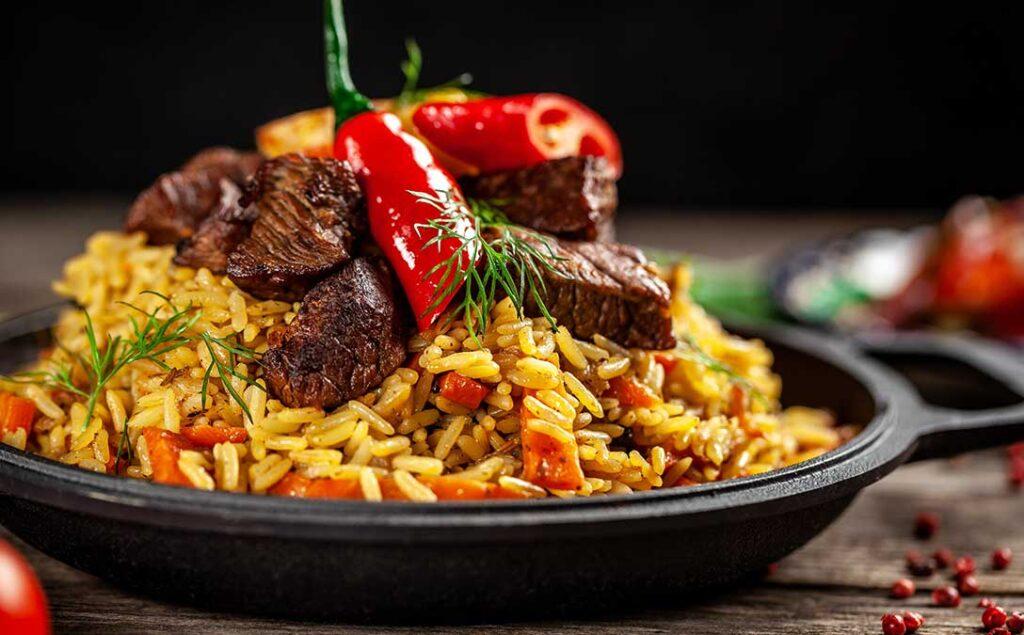 Jamaican Beef Rice Pilaf