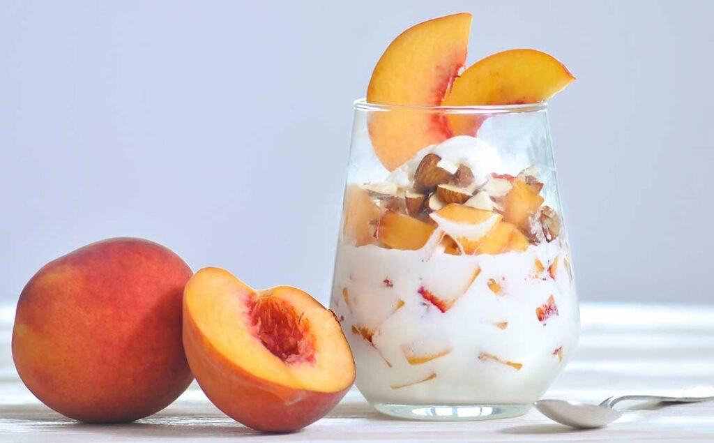 Peach & Almond Pudding