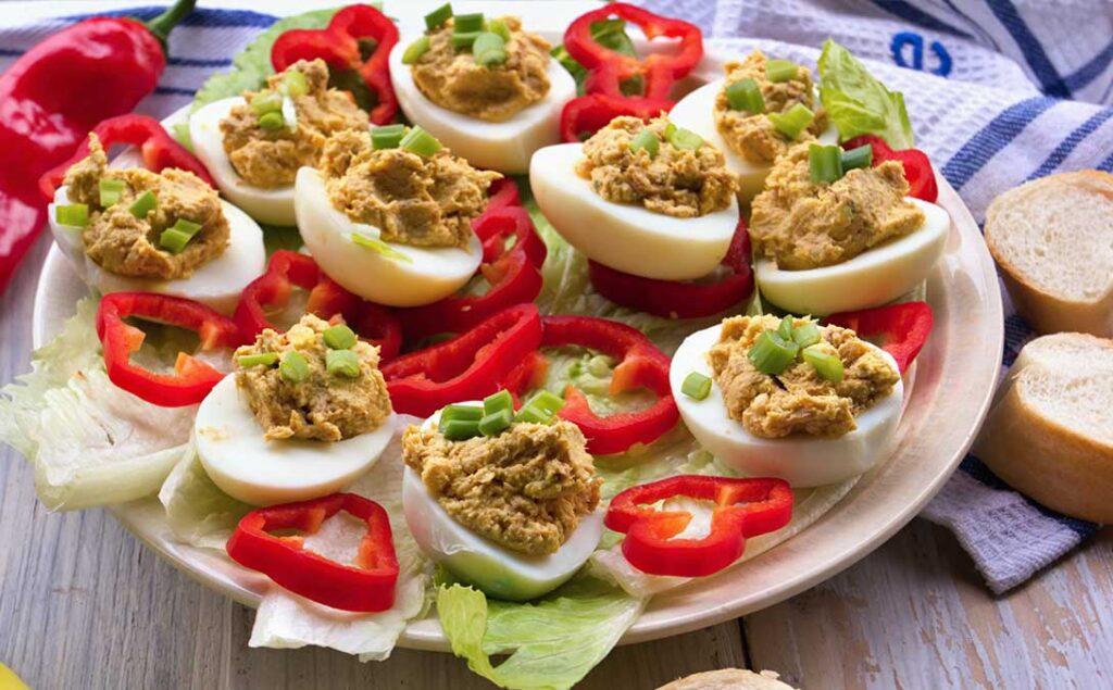 Portugese Stuffed Eggs (Ovos Recheados)