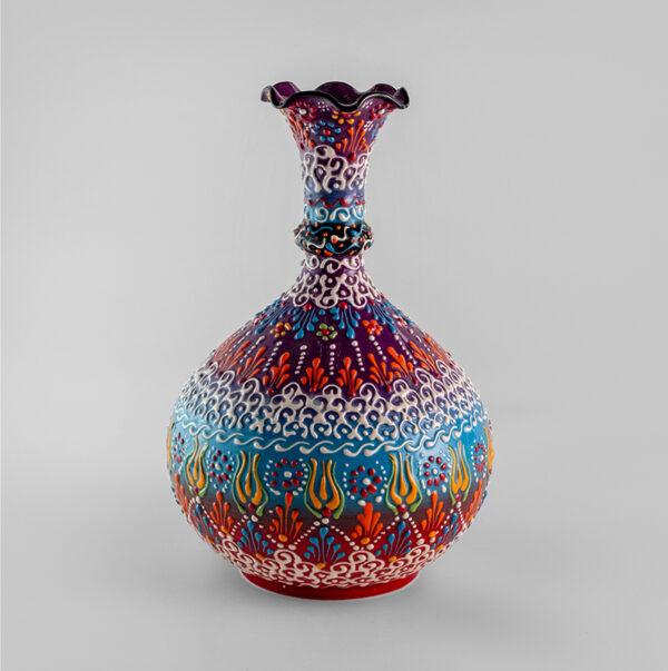 Chef Wan's Turkish Summer Anatolian Vase (25cm) (LIGHT BLUE)