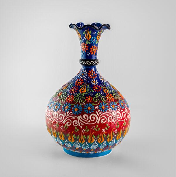 Chef Wan's Turkish Summer Anatolian Vase (25cm) (DARK RED)