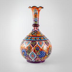 Chef Wan's Turkish Summer Anatolian Vase (30cm) (LIGHT BLUE + ORANGE)