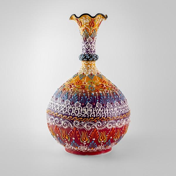 Chef Wan's Turkish Summer Anatolian Vase (30cm) (ORANGE+PURPLE)