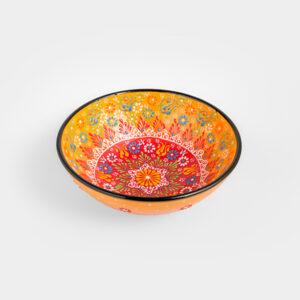 Chef Wan's Turkish Summer Decorative Bowl (20cm) (YELLOW + RED)