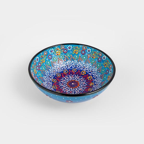 Chef Wan's Turkish Summer Decorative Bowl (20cm) (LIGHT + DARK BLUE)