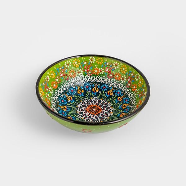 Chef Wan's Turkish Summer Decorative Bowl (20cm) (LIGHT + DARK GREEN)