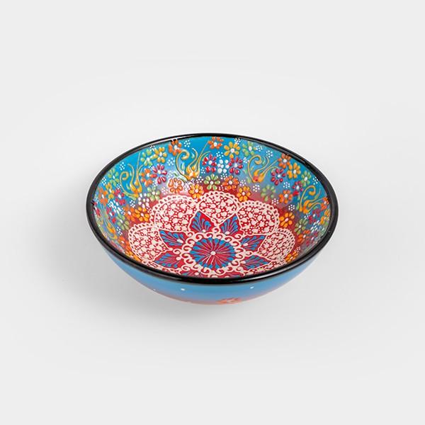 Chef Wan's Turkish Summer Decorative Bowl (20cm) (LIGHT BLUE + RED)