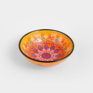 Chef Wan's Turkish Summer Decorative Bowl (20cm) (YELLOW + PINK)