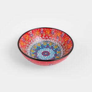 Chef Wan's Turkish Summer Decorative Bowl (20cm) (DARK RED + LIGHT BLUE)