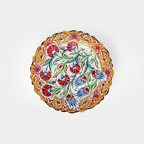 ChefWan'sTurkish Summer Artisanal Plates (30cm)(YELLOW)