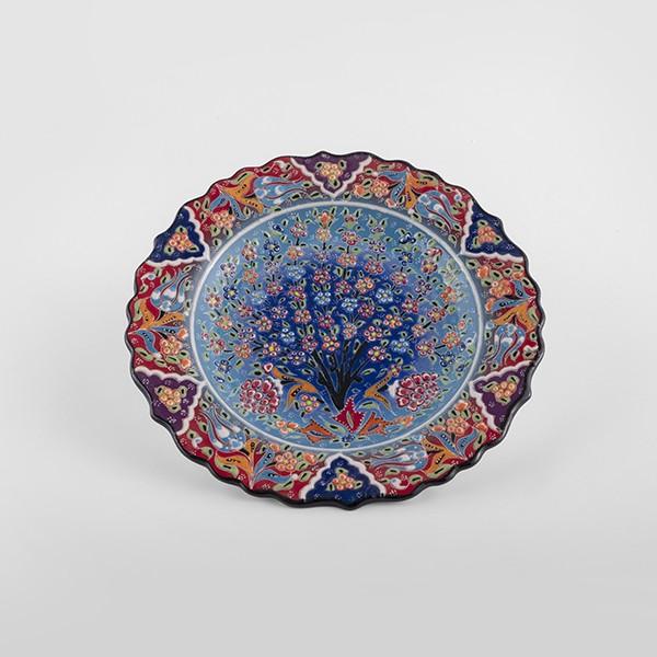 ChefWan'sTurkish Summer Artisanal Plates (25cm)(BLUE MIX + RED)