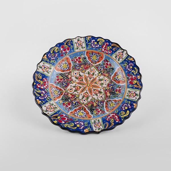 ChefWan'sTurkish Summer Artisanal Plates (25cm)(BLUE+ORANGE)