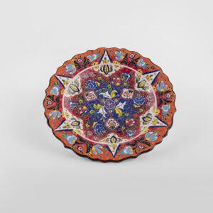 ChefWan'sTurkish Summer Artisanal Plates (25cm)(Orange + Blue)