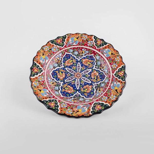 Chef Wan's Turkish Summer Artisanal Plates (25cm)(DARK + LIGHT BLUE)