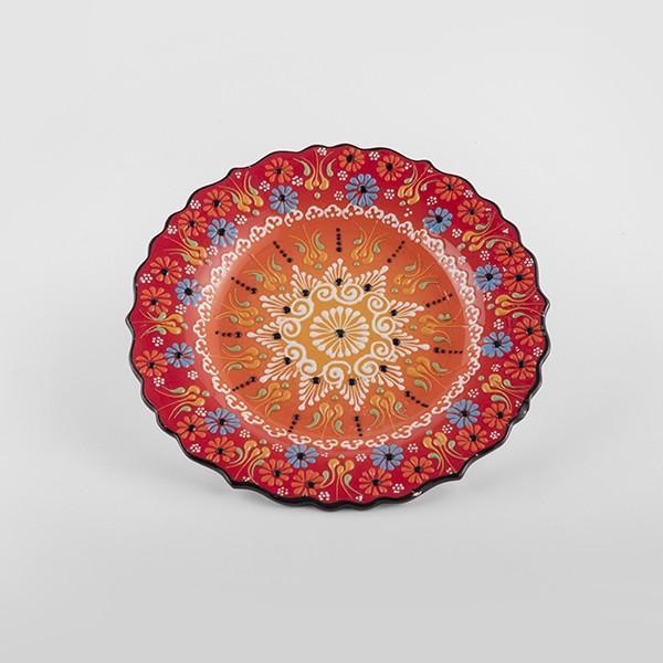 ChefWan'sTurkish Summer Artisanal Plates (25cm)(RED+ORANGE)