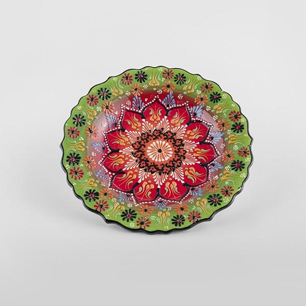 ChefWan'sTurkish Summer Artisanal Plates (25cm)(DARK PURPLE + ORANGE)