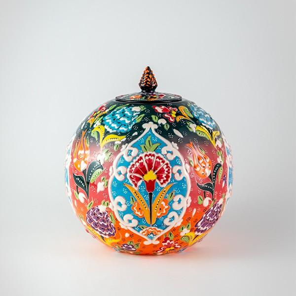 Chef Wan's Turkish Summer Artisanal Jars (15cm) (RED + BLACK)