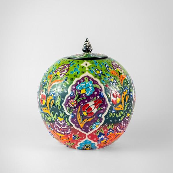 Chef Wan's Turkish Summer Artisanal Jars (15cm) (RED+DGREEN+LGREEN)