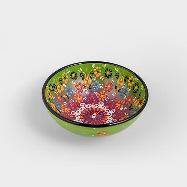 Chef Wan's Turkish Summer Decorative Bowl (15cm) (GREEN + PURPLE)