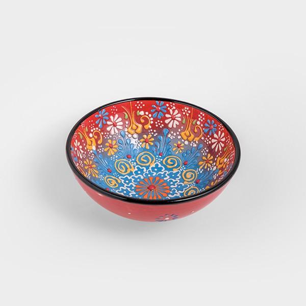 Chef Wan's Turkish Summer Decorative Bowl (15cm) (RED + LIGHT BLUE)