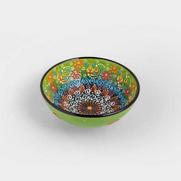 Chef Wan's Turkish Summer Decorative Bowl (15cm) (DARK + LIGHT GREEN)