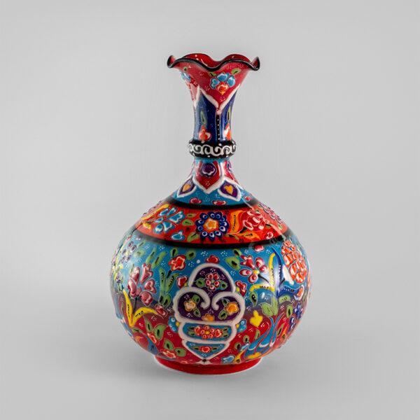 Chef Wan's Turkish Summer Anatolian Vase (25cm) (MULTI FLORAL)