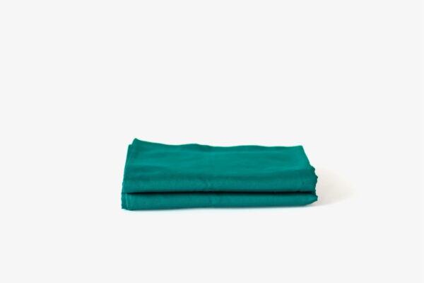 KAPAS pillowcases (x2) - 100% long staple cotton - Emerald Green